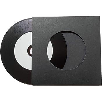 レコード型CD-R 厚紙ジャケット付 50枚 (黒)