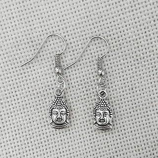 Erin Earring Orecchino Accessori per Gioielli con estremità A Molla E Gancio A Forma di Ciondolo con Testa di Buddha