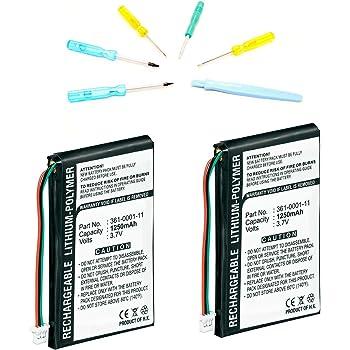 Akku für Garmin Nüvi 765T 3,7V 1200mAh//4,4Wh Li-Polymer Schwarz