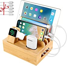 White PRITEK Charging Station for Multiple Devices 60W//12A 7 Ports Desktop Charger Station with 6 Ai USB Ports 1 Type-c Port with 7pcs USB Cables Compatible for Most USB Enabled Electronics
