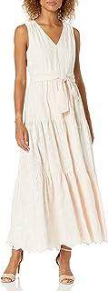 Women's Maxi Dress with Tiered Flounce Skirt
