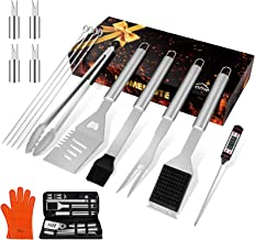 """homenote Grilling Accessories, 17PCS Grill Tools Set BBQ Tool Kit Stainless Steel Grill Sets, 16"""" Spatula Tongs, Thermomet..."""