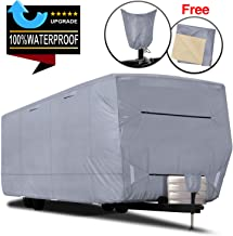 RVMasking Upgraded 100% Waterproof Oxford Travel Trailer RV Cover, Fits 28'7