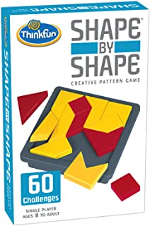 ThinkFun Shape by Shape Creative Pattern Logic Game For Age 8 to Adult - Learn Logical Reasoning Skills Through Fun Gameplay
