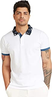 Iconic Men's 2300303 KEANU Knitted Polo Shirt, White