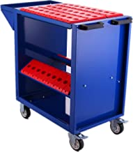 Mophorn Tool Cart 30 Taper Tool Holder CNC Tool Cart 45 Capacity CAT30 BT30 Service Carts with Wheels Heavy Duty (BT30 45 Capacity)