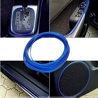 ATMOMO 5M Flexible Trim for DIY Automobile Car Interior Exterior Moulding Trim Decorative Line Strip (Dark Blue)