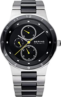 Time 32339-722 Mens Ceramic Collection Watch with Stainless Steel Band and Scratch Resistant Sapphire Crystal. Designed in Denmark.