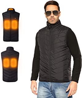 PAVEHAWK Outdoor Lightweight Heated Vest USB Electric Hooded Winter Heating Clothing Vest Thermal Clothing Skiing Hiking
