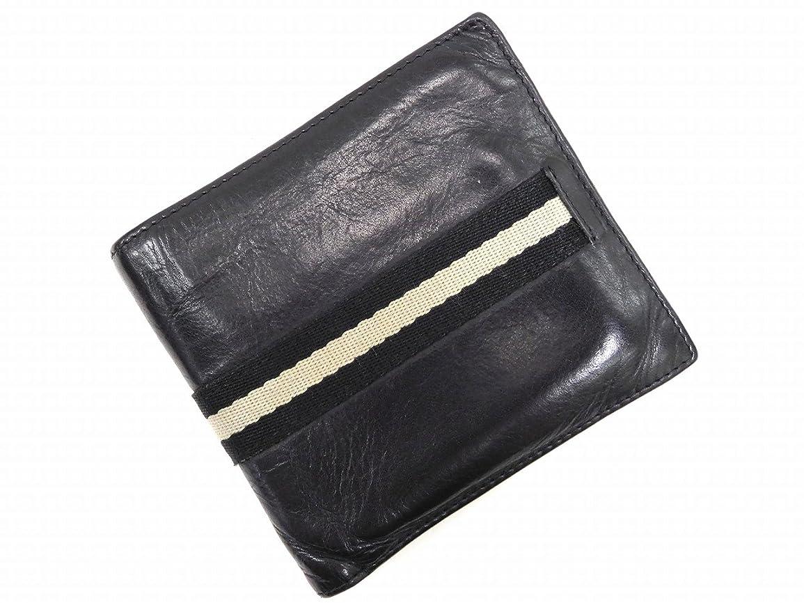 キリン二度チラチラする[バリー] BALLY 二つ折り財布 キャンバス×レザー X5851 中古