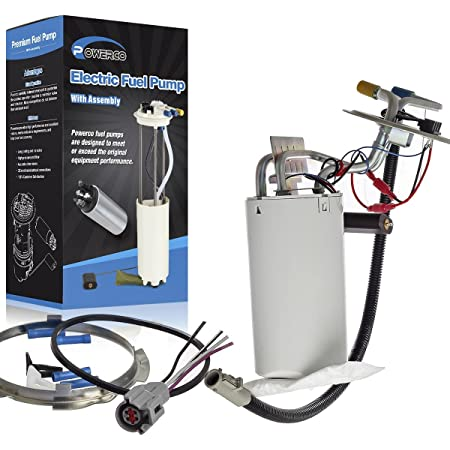 POWERCO Electric Gas Fuel Pump Module Assembly Replacement For F-150 F-250 F-350 F-450 F Super Duty 1992-1998 With Sending Unit E2059M SP2005H Midship Tank (Fit For:17 Gal)