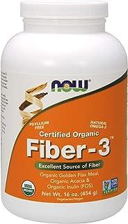 NOW Supplements, Organic Fiber-3, 16-Ounce