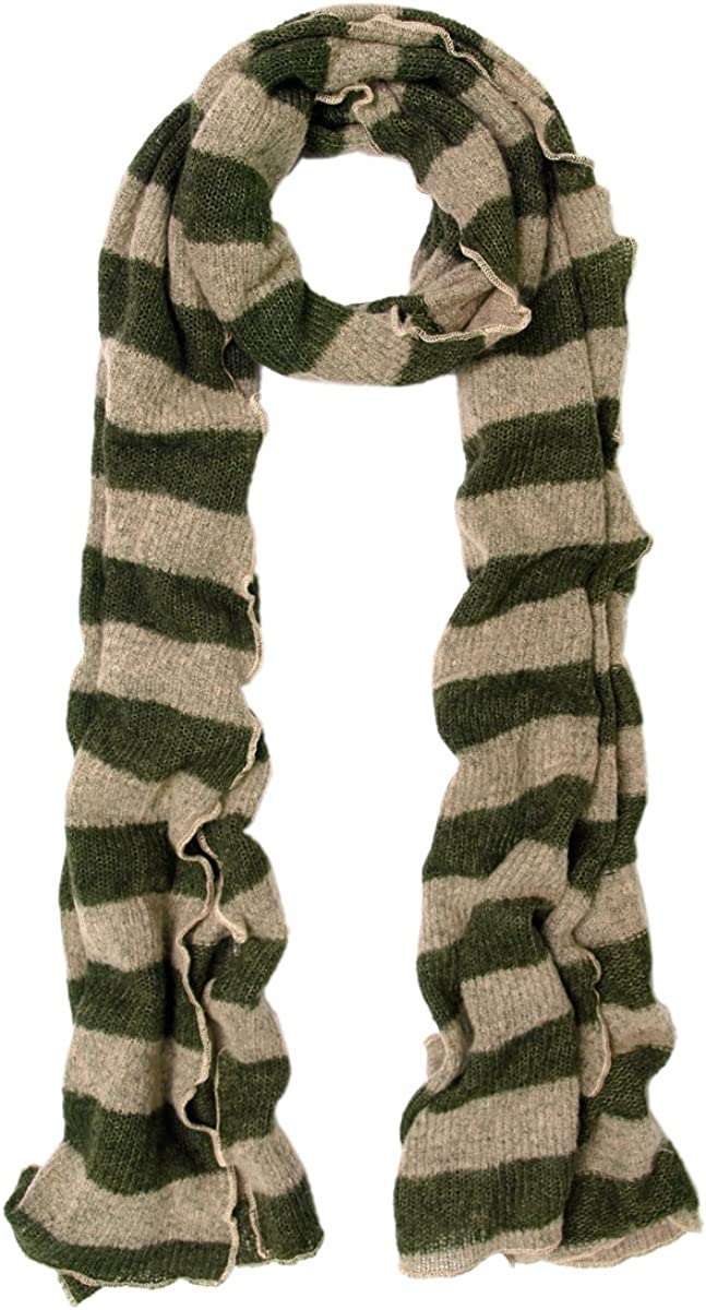 Premium Long Soft Knit Striped Scarf