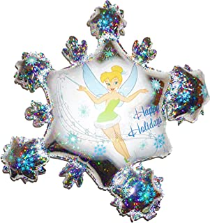 Fantastic Floatables Anti-Gravity Hovering Flying Floating TINKERBELL HOLIDAY SNOWFLAKE Prismatic 32 inch Toy Pet Balloon Party Favor
