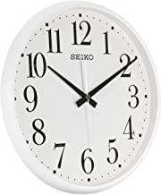 QXA728WLS SEIKO Quiet Sweep hand White Office Clock Diameter 33 cm