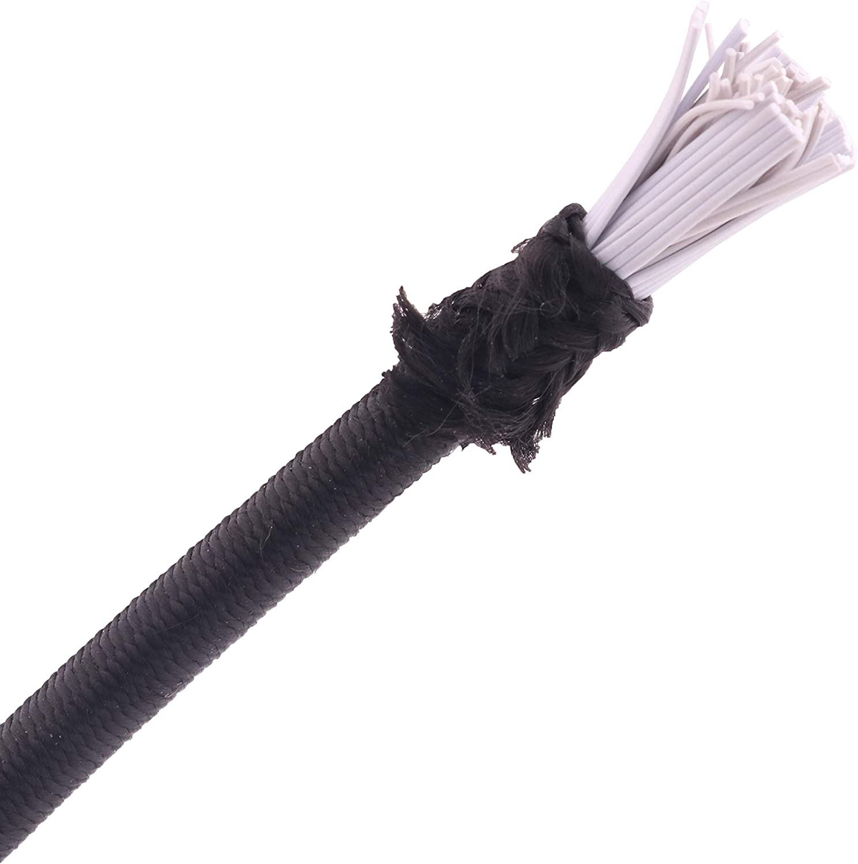 x30ft YAKA 3mm x 30ft Bungee Shock Cord Elastic Nylon Cords Kayak Stretch String Rope /& Tie Down Trailer Strap,Black Crafting Stretch String length diameter 3mm