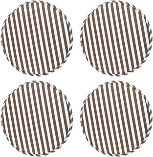 Suntop Round Non Slip Seat Cushions High Stool Chair Pads Bar Chair Cushion Set with Ties 13 Inch Pack of 4 (Coffee)