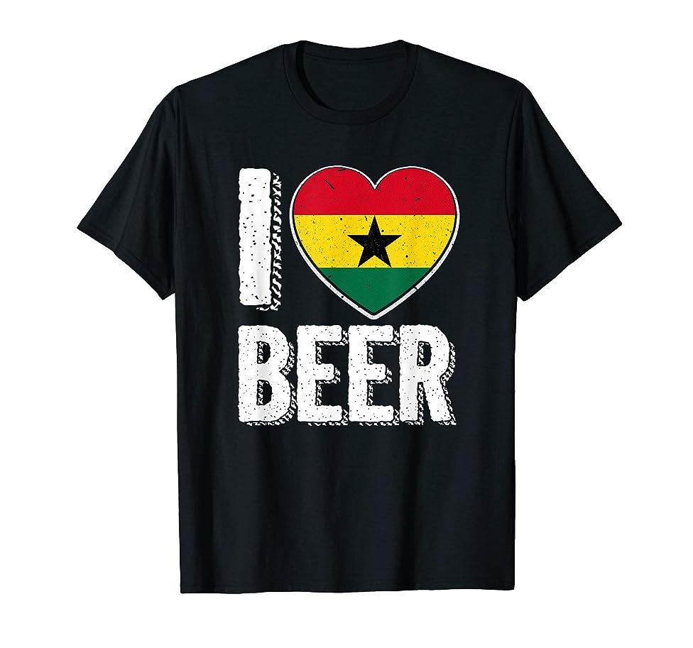 I Heart Ghanaian Beer Pride Love T-Shirt Ghana Flag