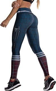 spiderman workout leggings