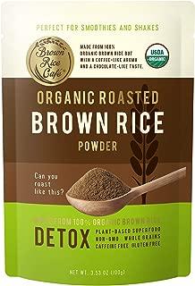 Organic Roasted Brown Rice Powder, NET WT. 3.53 OZ (100g)