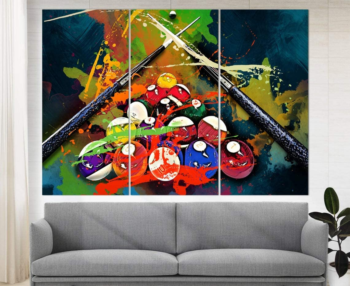 Marchak Billiards Atlanta Mall Canvas Art supreme Game Decor Room