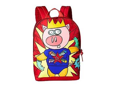 Dolce & Gabbana Kids DG Super Pig Backpack (Multi) Backpack Bags