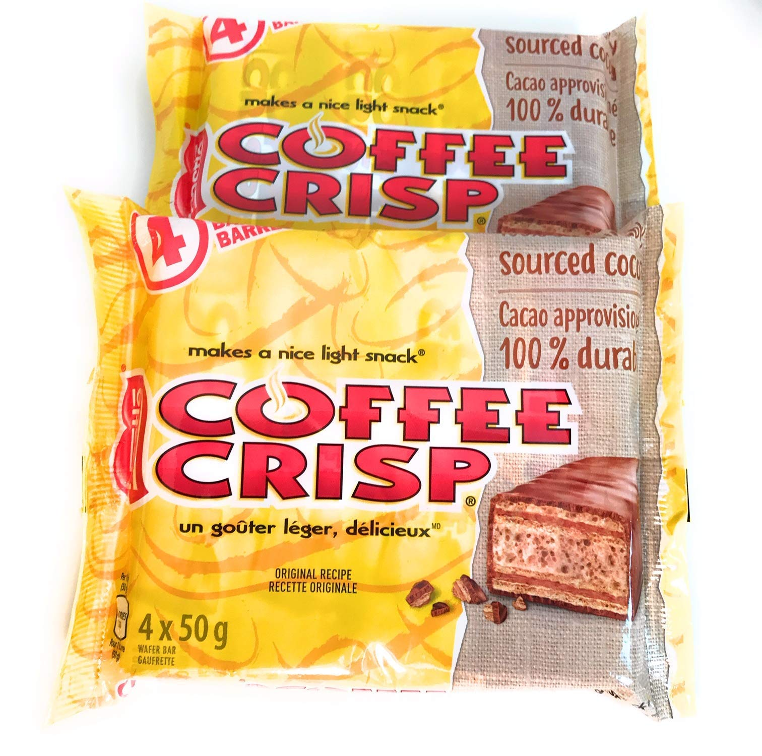 Nestle Coffee Crisp Chocolate Bars 2 pack, 8-50g Bars in Total