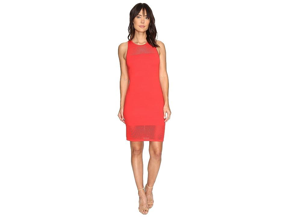 MICHAEL Michael Kors Mesh Stitch Tank Sweater Dress (Coral Reef) Women