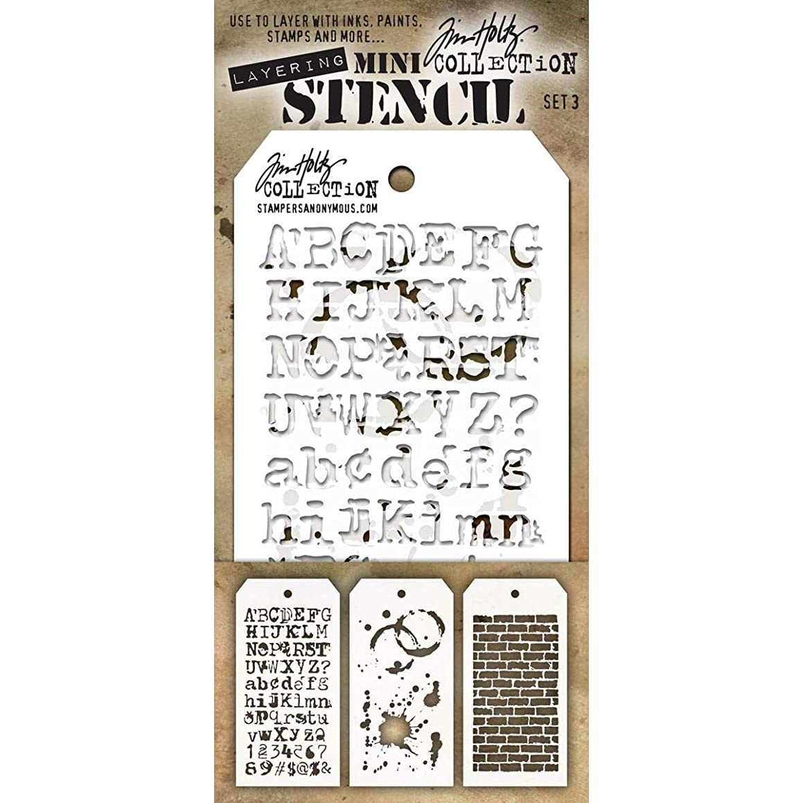 Tim Holtz Layering Stencil Set Mini #3