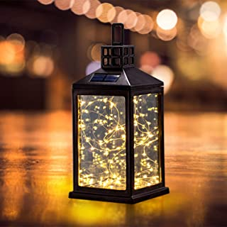 Solar Lantern Lights Outdoor SUNWIND Waterproof Solar Table Lamp Hanging Lighting with 30 Warm White LEDs for Garden Patio Landscape Decoration
