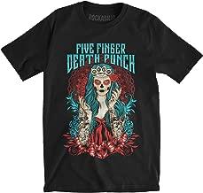 Five Finger Death Punch Men's Lady Muerta Slim Fit T-Shirt Black