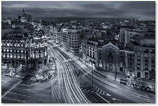 Madrid City Lights by Javier De La, 22x32-Inch Canvas Wall Art