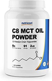 Nutricost C8 MCT オイル パウダー 2ポンド(32オンス)- 95% C8 MCT オイル パウダー