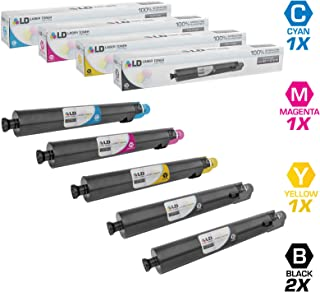 LD Compatible Toner Cartridge Replacement for Ricoh Aficio SP C830 C831DN (2 Black, 1 Cyan, 1 Magenta, 1 Yellow, 5-Pack)