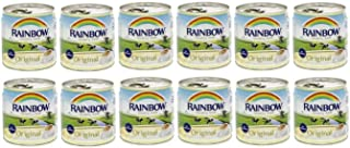 Rainbow Evaporated Milk Full Cream Sterilized 6oz. 170gm each 12 Cans حليب أبو قوس مبخر كامل الدسم افضل صديق للشاي