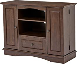 Rоckpоint 42-Inch Highboy-Style Wood TV Stand Console, Walnut Brown