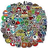 MYLIES Pegatinas 100-PCS, Stickers Skate, Pegatinas para Portátiles, Botellas de Agua, Moto, Equipaje, Monopatín, Pegatina, Los Mejores Regalos para Niños y Niñas.