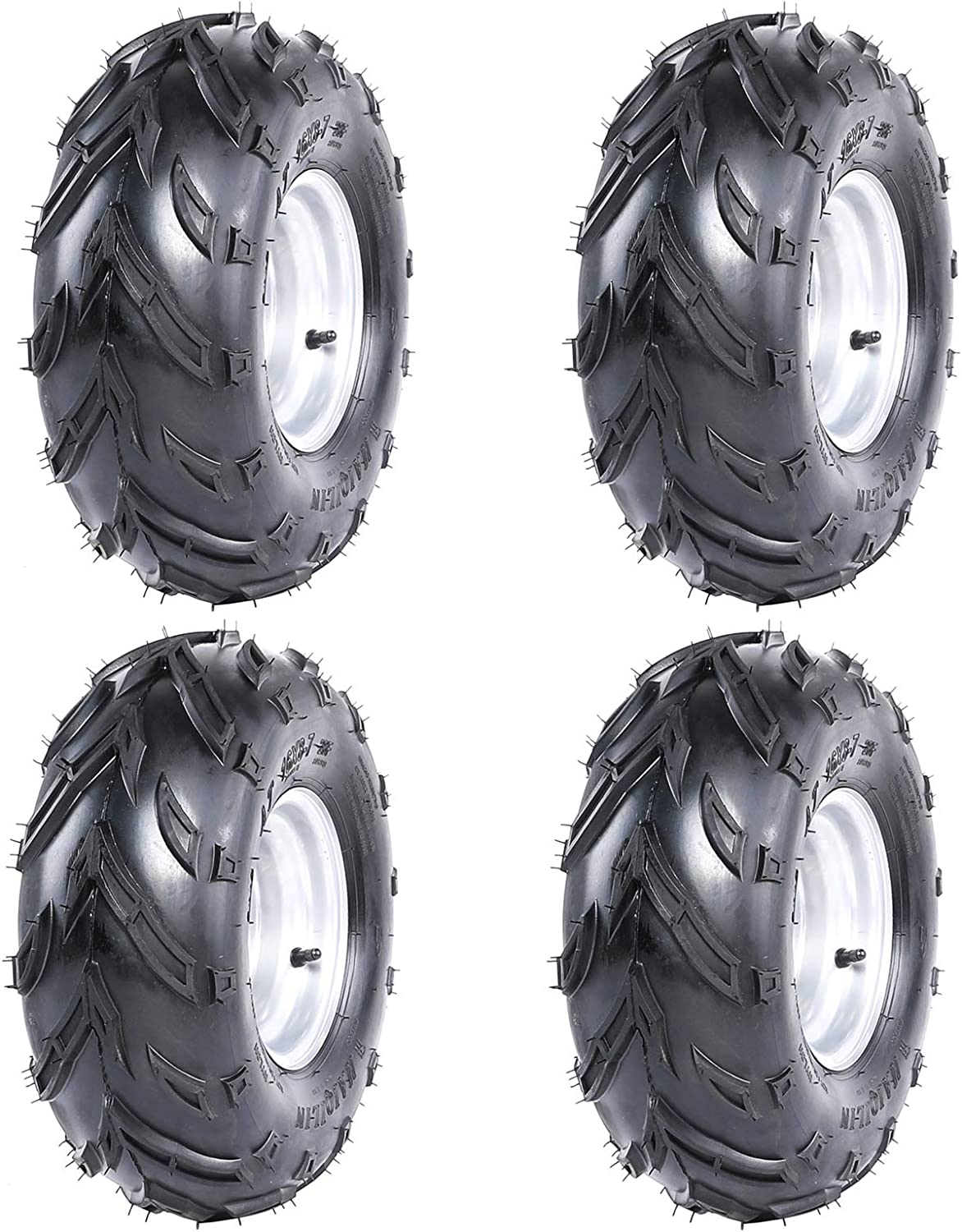WPHMOTO 4PCS 16X8-7 Tires Now free shipping Wheels In a popularity and or Rim Rea Front Tubeless