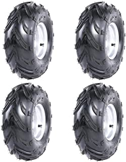 WPHMOTO 16X8-7 ATV Tire and Rim Tubeless | Front or Rear Tires with Rims for Go Kart UTV Quad Bike Buggy Utility Vehicles