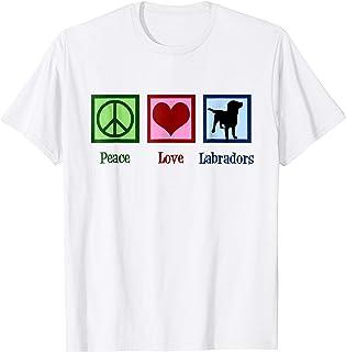 Peace Love Labradors T-Shirt - Labrador Retriever Tee