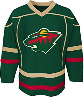 Outerstuff Minnesota Wild Blank Green Youth Home Fashion Jersey
