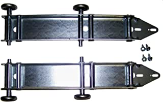 Garage Doors Building and Hardware Quick Turn Top Fixture Brackets with 4 Steel Rollers Low Headroom