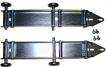 Garage Doors Building and Hardware Quick Turn Top Fixture Brackets with 4 Steel Rollers Low Headroom