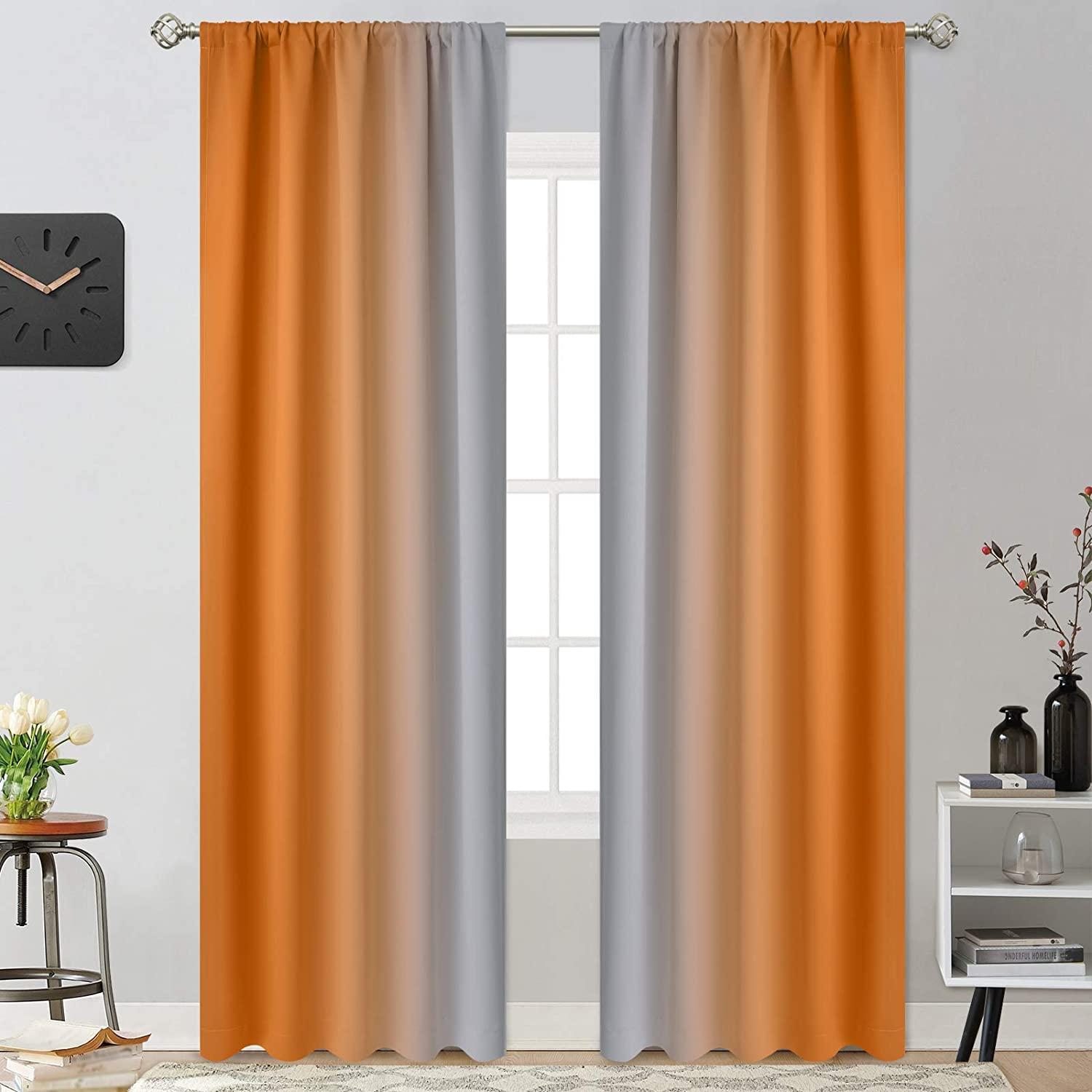 Yakamok Room Price reduction Darkening Excellence Gradient Color Curtains Thickening Ombre