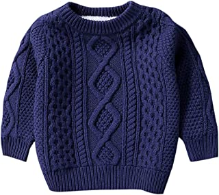 Kid's Vintage Twist Warm Fleece Lined Sweater, 12 Months-10 Years