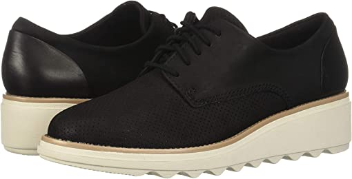 Black Nubuck/Leather Combi