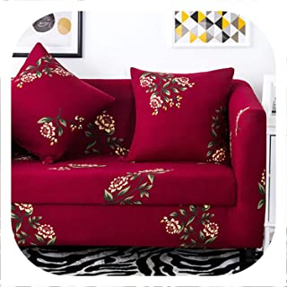 Memoirs- Stretch Sofa Cover Elastic Sofa Slipcovers All-Inclusive Couch Case for Different Shape Sofa Loveseat Chair L-Style Sofa Case,Color 15,2-Seater 145-185cm