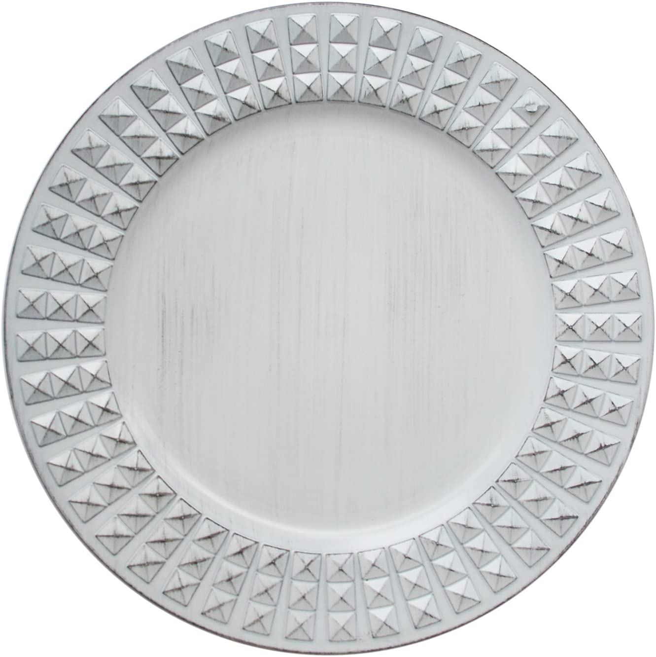 ChargeIt by Jay Antiqued Charger Max 67% OFF Choice White Plate