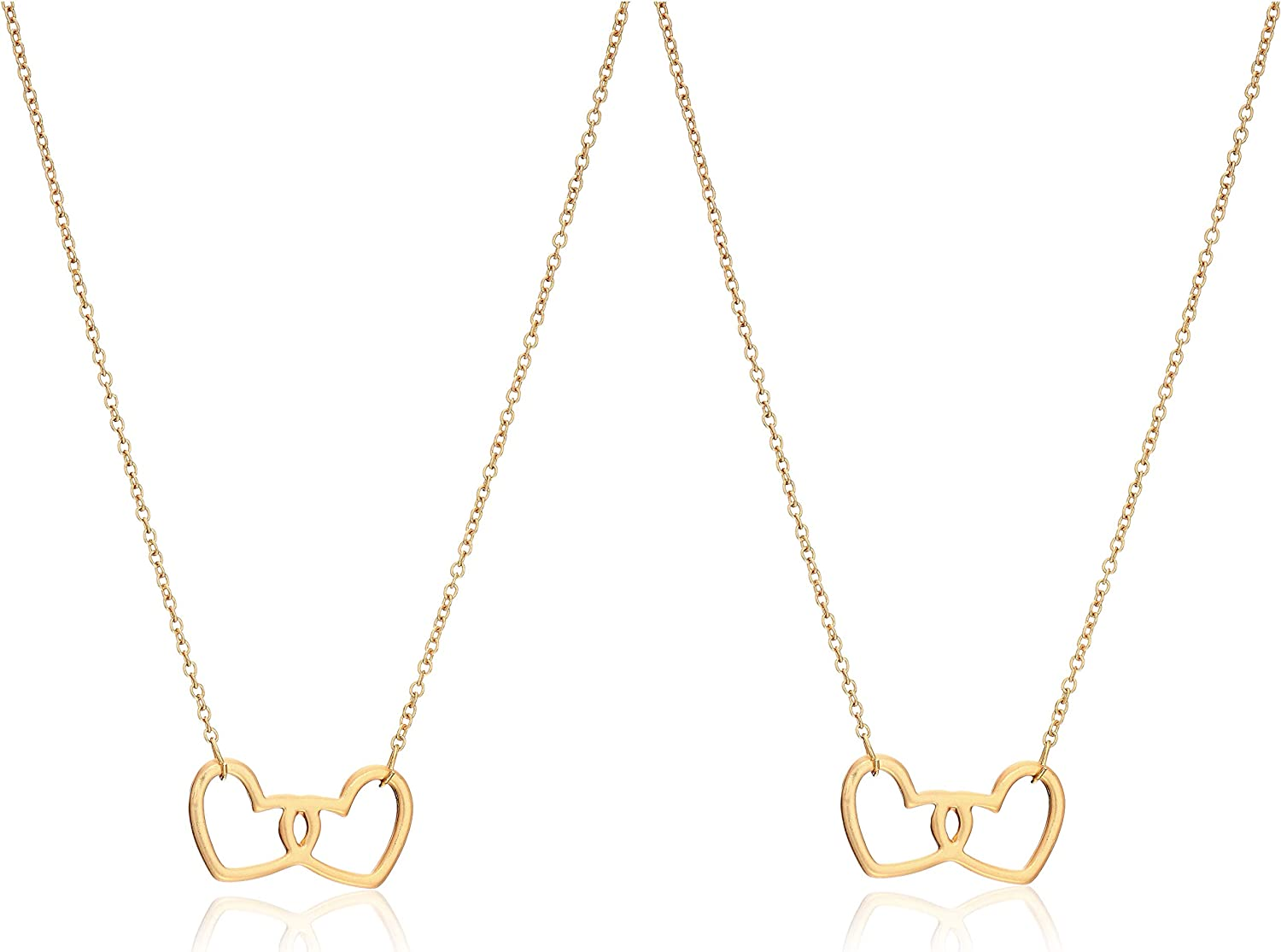 Mud Pie Women's Mother Daughter Necklace Set, Gold, One Size
