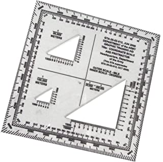 Military Graphic Training Aid Coordinate Grid Reader & Protractor, GTA